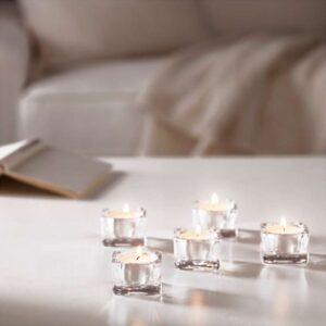 ГЛАСИГ Подсвечник для греющей свечи прозрачное стекло 5x5 см - Артикул: 903.716.71