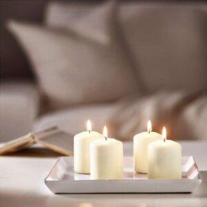 ХЕМШЁ Неароматич свеча формовая естественный 8 см - Артикул: 003.716.75