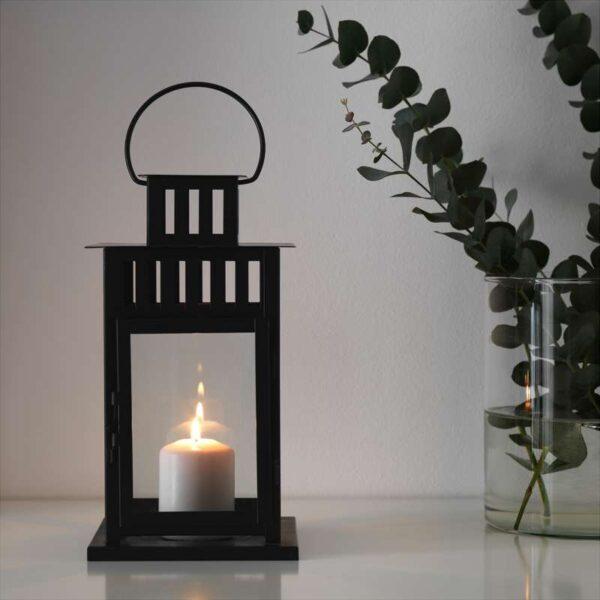 БОРБЮ Фонарь для формовой свечи д/дома/улицы черный 28 см - Артикул: 603.716.63