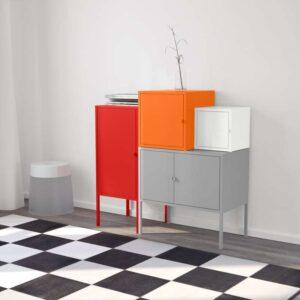 ЛИКСГУЛЬТ Комбинация д/хранения серый/белый/оранжевый/красный 95x92 см - Артикул: 992.440.42