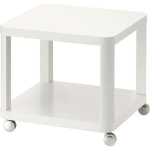 ТИНГБИ Стол приставной на колесиках белый 50x50 см - Артикул: 003.832.87