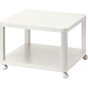 ТИНГБИ Стол приставной на колесиках белый 64x64 см - Артикул: 603.832.89