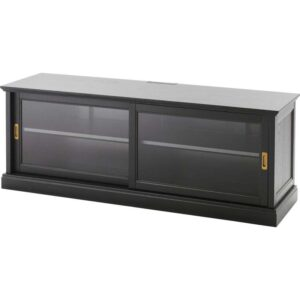 МАЛЬШЁ Тумба под ТВ с раздвижными дверцами, черная морилка - 160x48 см > Артикул: 203.833.85