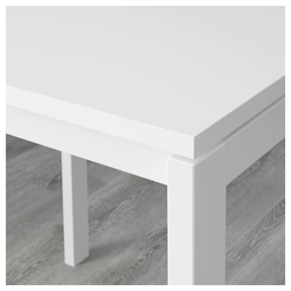 МЕЛЬТОРП / НИЛЬСОВЕ Стол и 2 стула, белый/ротанг белый 75x75 см - Артикул: 792.972.96
