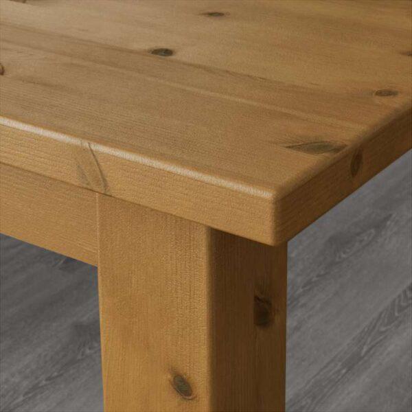 СТУРНЭС / КАУСТБИ Стол и 4 стула морилка,антик 147 см - Артикул: 392.298.03