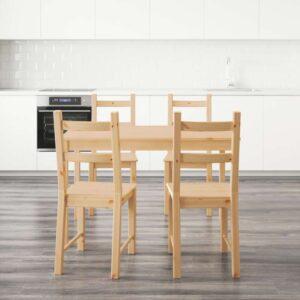 ИНГУ / ИВАР Стол и 4 стула 120 см. Артикул: 292.298.51