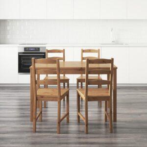 ЙОКМОКК Стол и 4 стула морилка,антик - Артикул: 403.714.90