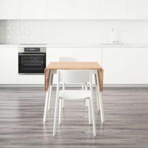 ИКЕА ПС 2012 / ЯН-ИНГЕ Стол и 4 стула бамбук/белый 138 см - Артикул: 792.298.44