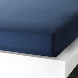 УЛЛЬВИДЕ Простыня натяжная, темно-синий 180x200 см. Артикул: 703.511.55