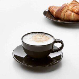 ВАРДАГЕН Чашка кофейная с блюдцем темно-серый 14 сл - Артикул: 903.791.15