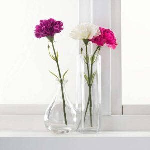 СМИККА Цветок искусственный гвоздика/белый 30 см - Артикул: 603.717.43