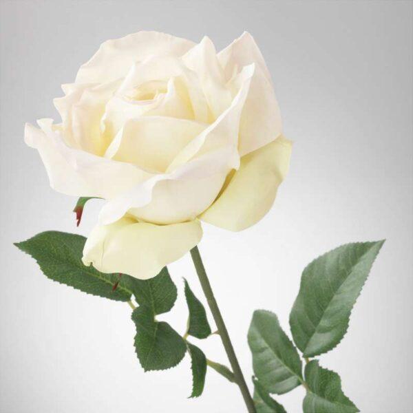 СМИККА Цветок искусственный роза/белый 75 см - Артикул: 203.805.51
