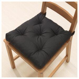 МАЛИНДА Подушка на стул, черный 40/35x38x7 см - Артикул: 904.215.86