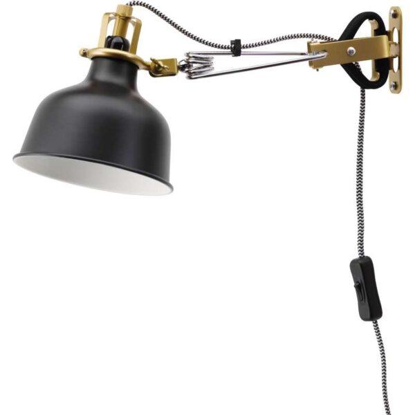 РАНАРП Настенный софит/лампа с зажимом черный - Артикул: 703.610.03