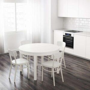 БЬЮРСТА Раздвижной стол белый 115/166 см - Артикул: 303.854.16