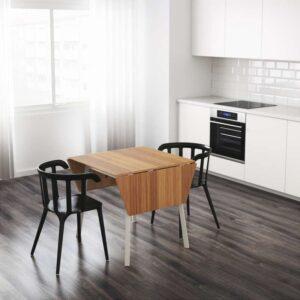 ИКЕА ПС 2012 Стол c откидными полами бамбук/белый 74/106/138x80 см - Артикул: 603.589.06
