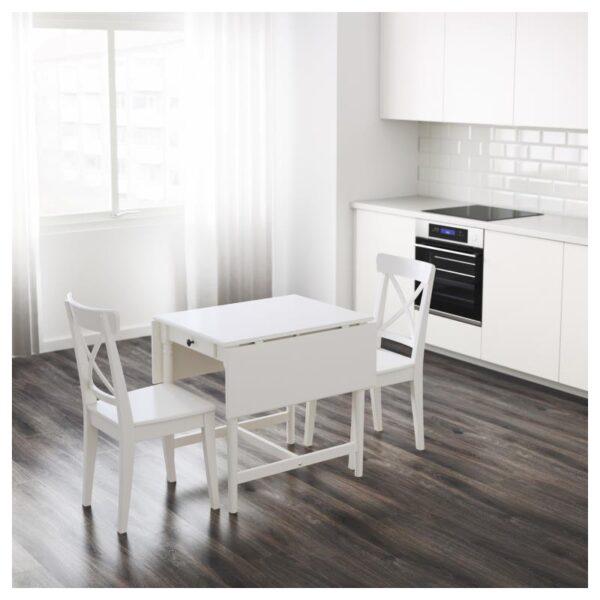 ИНГАТОРП Стол c откидными полами белый 65/123x78 см - Артикул: 804.231.09