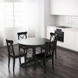 ИНГАТОРП Раздвижной стол черный 110/155 см - Артикул: 403.615.75