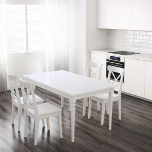 ИНГАТОРП Раздвижной стол белый 155/215x87 см - Артикул: 803.615.78