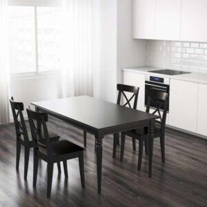 ИНГАТОРП Раздвижной стол черный 155/215x87 см - Артикул: 003.615.77