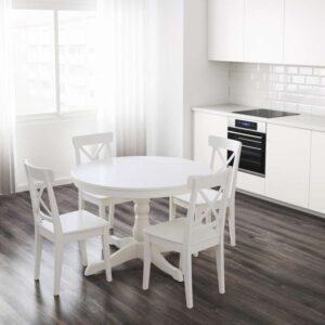 ИНГАТОРП Раздвижной стол белый 110/155 см - Артикул: 203.615.76