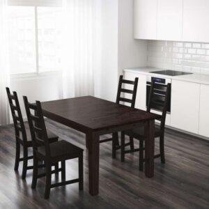 СТУРНЭС Раздвижной стол коричнево-чёрный 147/204x95 см - Артикул: 403.714.09