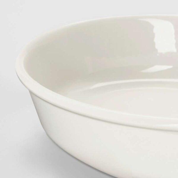 ВАРДАГЕН Форма для духовки овал/белый с оттенком 26x21 см - Артикул: 503.725.97