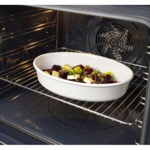 ВАРДАГЕН Форма для духовки овал/белый с оттенком 31x24 см - Артикул: 103.725.99
