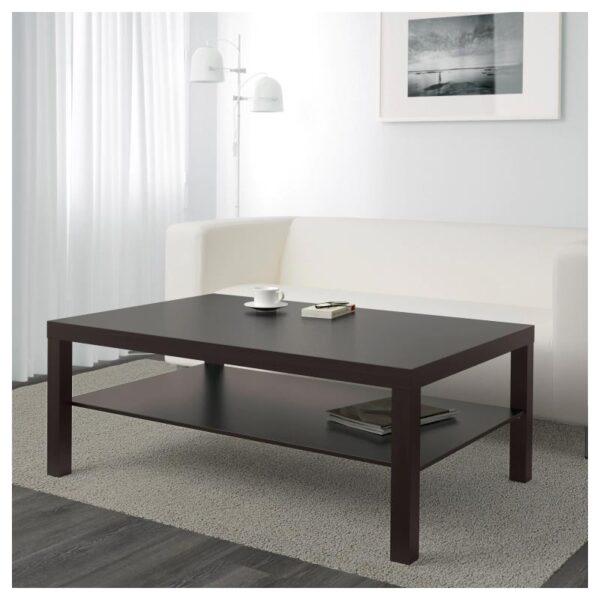 ЛАКК Журнальный стол, черно-коричневый 118x78 см - Артикул: 104.460.67