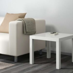 ЛАКК Придиванный столик глянцевый белый 55x55 см - Артикул: 203.832.48