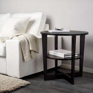 ВЕЙМОН Придиванный столик черно-коричневый 60 см - Артикул: 003.841.78