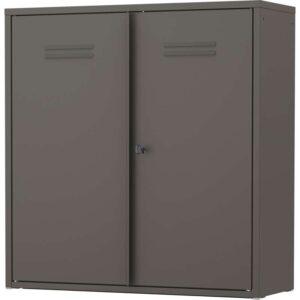 ИВАР Шкаф с дверями серый 80x83 см - Артикул: 203.795.57
