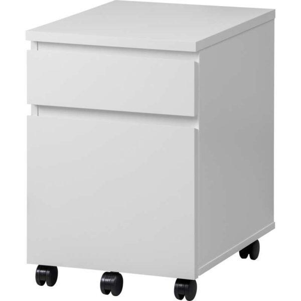 МАЛЬМ Тумба с ящиками на колесах белый 42x59 см - Артикул: 003.789.07