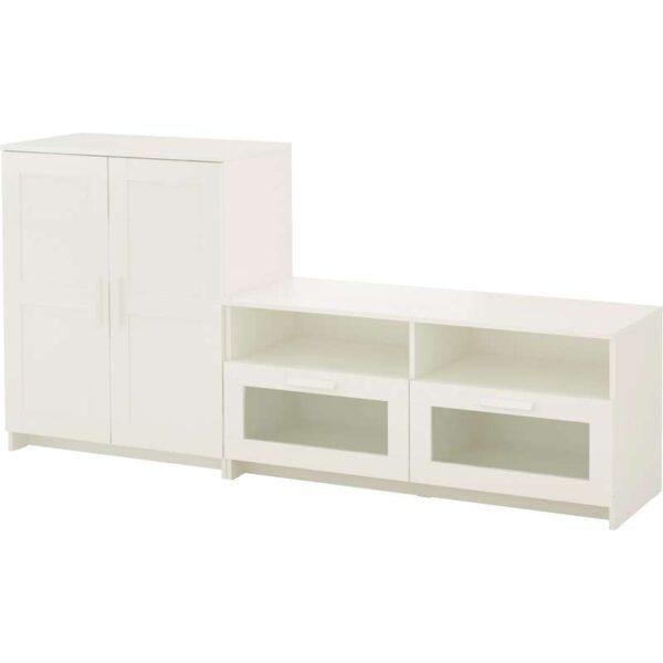 БРИМНЭС Шкаф для ТВ, комбинация, белый - 200x41x95 см > Артикул: 192.397.61