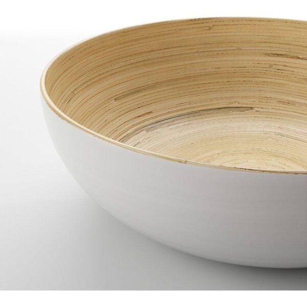 РУНДЛИГ Сервировочная миска бамбук/белый 30 см - Артикул: 104.147.40