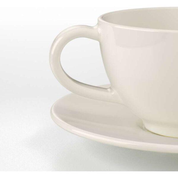 ВАРДАГЕН Чашка чайная с блюдцем белый с оттенком 26 сл - Артикул: 003.724.20