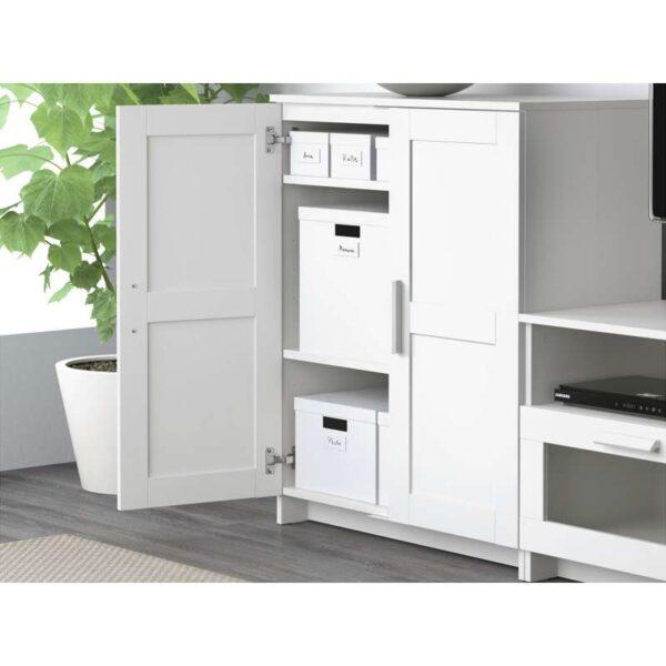 БРИМНЭС Шкаф для ТВ, комбинация, белый - 260x41x190 см > Артикул: 792.397.63