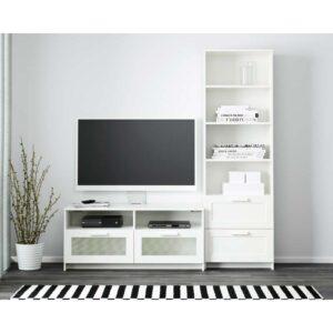 БРИМНЭС Шкаф для ТВ, комбинация, белый - 180x41x190 см > Артикул: 592.397.59