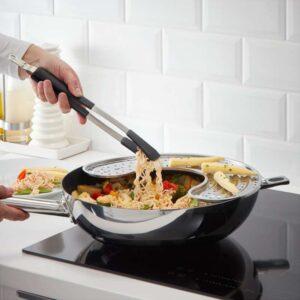 ИКЕА 365+ ЙЭЛТЕ Кухонные щипцы нержавеющ сталь/черный - Артикул: 003.728.92