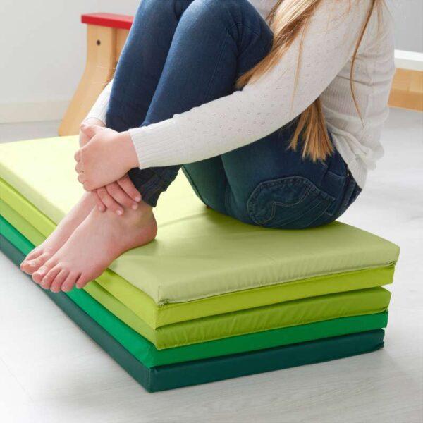 ПЛУФСИГ Складной гимнастический коврик зеленый 78x185 см - Артикул: 703.655.29