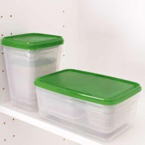 ПРУТА Набор контейнеров 17 шт. прозрачный/зеленый - Артикул: 803.762.16
