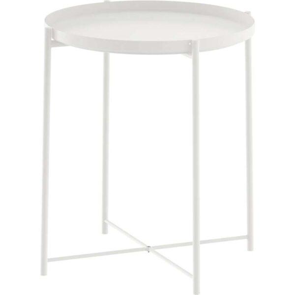 ГЛАДОМ Стол сервировочный белый 45x53 см - Артикул: 003.832.49