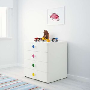 СТУВА / ФОЛЬЯ Комбинация для хранения с ящиками белый 60x50x64 см - Артикул: 892.746.90