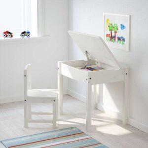 СУНДВИК Стол с отделением для хранения белый 58x45 см - Артикул: 203.661.40