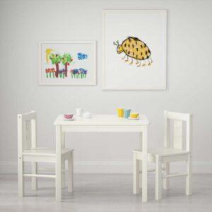 КРИТТЕР Стол детский белый 59x50 см - Артикул: 103.661.26