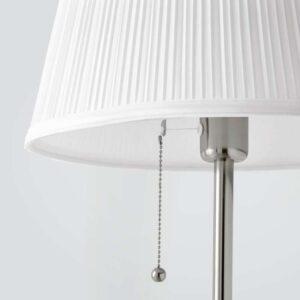 ОРСТИД Светильник напольный никелированный/белый - Артикул: 403.605.52