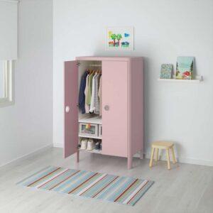 БУСУНГЕ Шкаф платяной светло-розовый 80x139 см - Артикул: 603.658.79