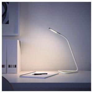 ХОРТЕ Рабочая лампа, светодиодная, белый/серебристый - Артикул: 603.605.94