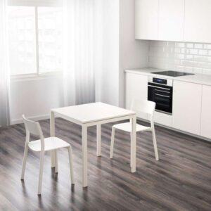 МЕЛЬТОРП Стол белый 75x75 см - Артикул: 392.271.68