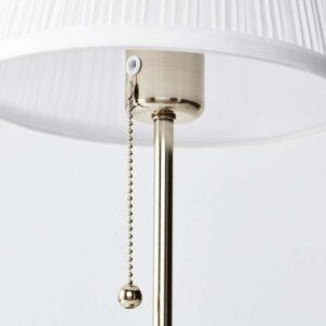 ОРСТИД Лампа настольная никелированный/белый - Артикул: 703.606.16